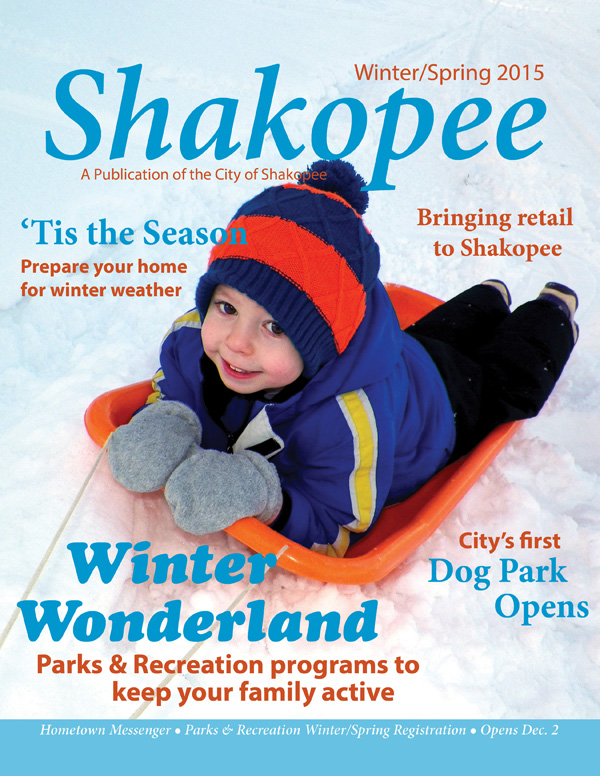 Boy on sled magazine cover
