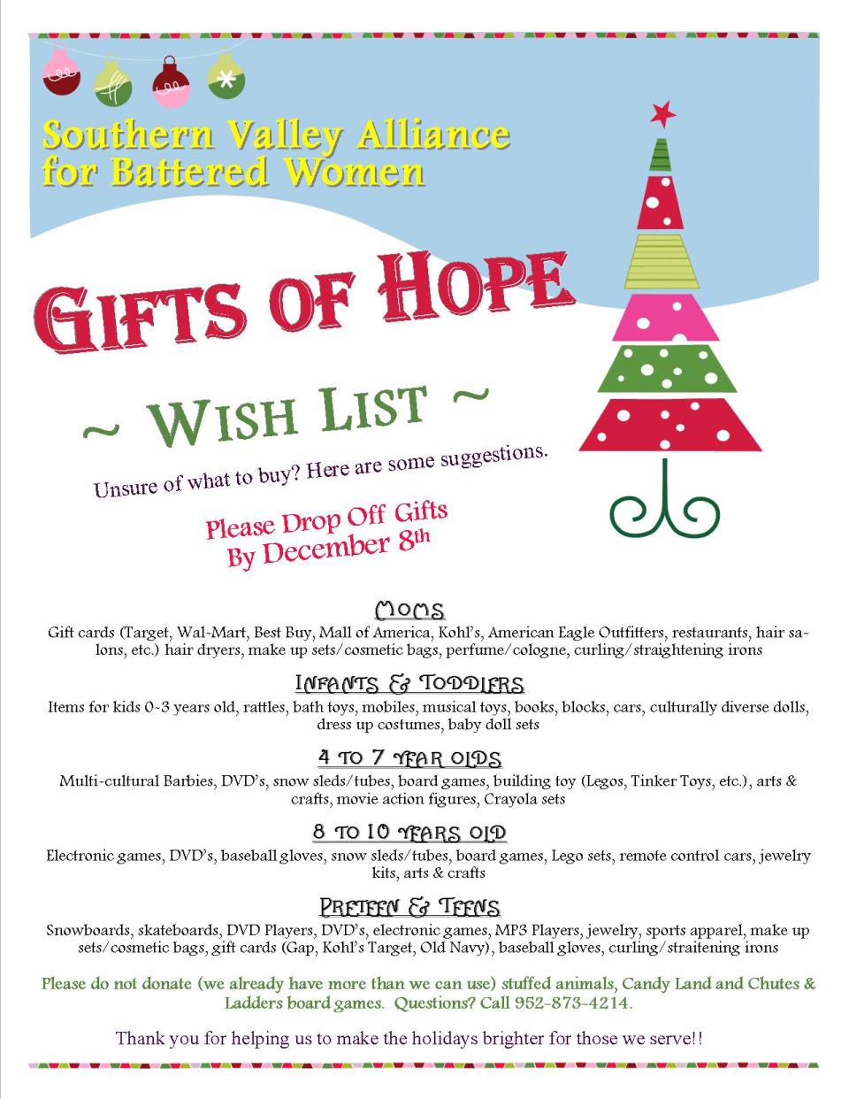 gifts of hope flyer - Southern Womens Christmas Show