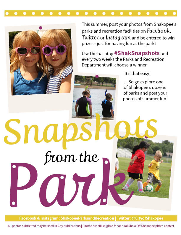 Submit your 'Snapshots from the Park' to win fun prizes