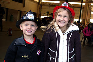 Kids with fire hats