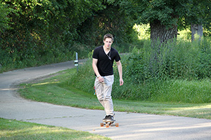 Skateboarder on MN Valley State Trail