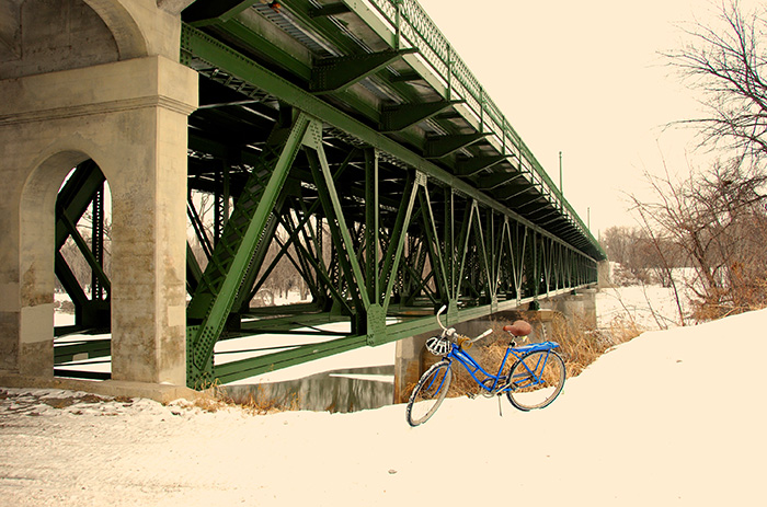 Bike under bridge