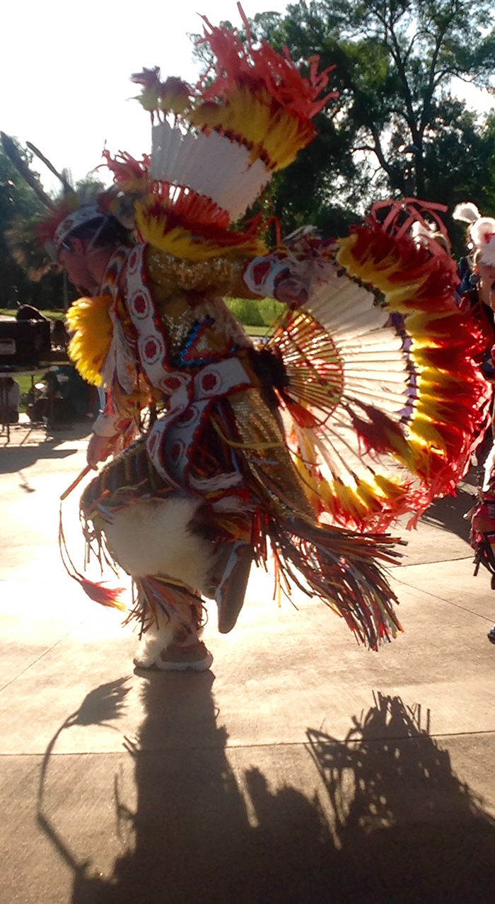 Dancer in native regalia