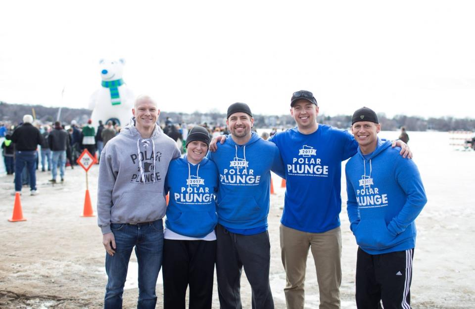 Shakopee police officers take part in 2017 Prior Lake Polar Plunge