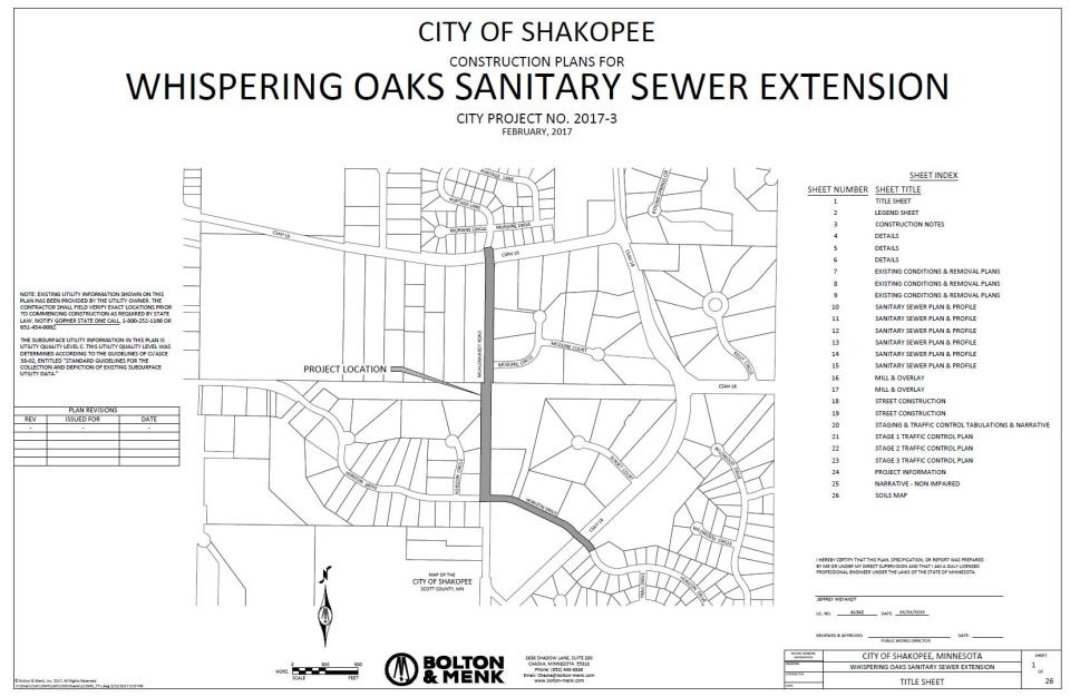 Whispering Oaks Project map