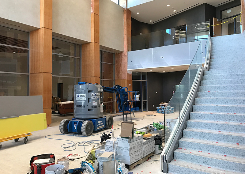 Front lobby under construction