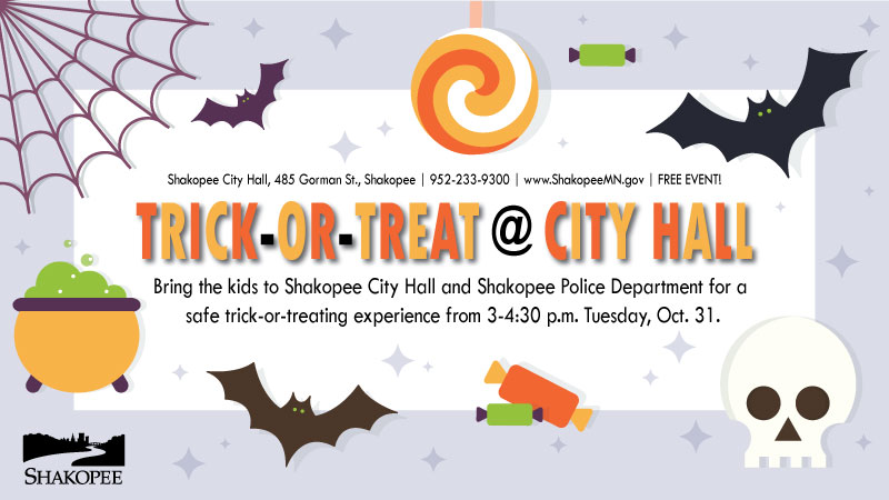 City Hall, Police Department to host Oct. 31 trick-or-treating