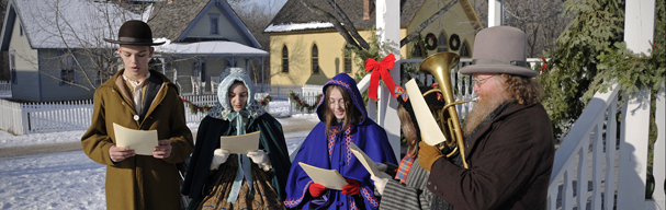 Singers in costumer at Folkways of the Holidays