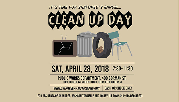 Informational poster about Clean Up Day