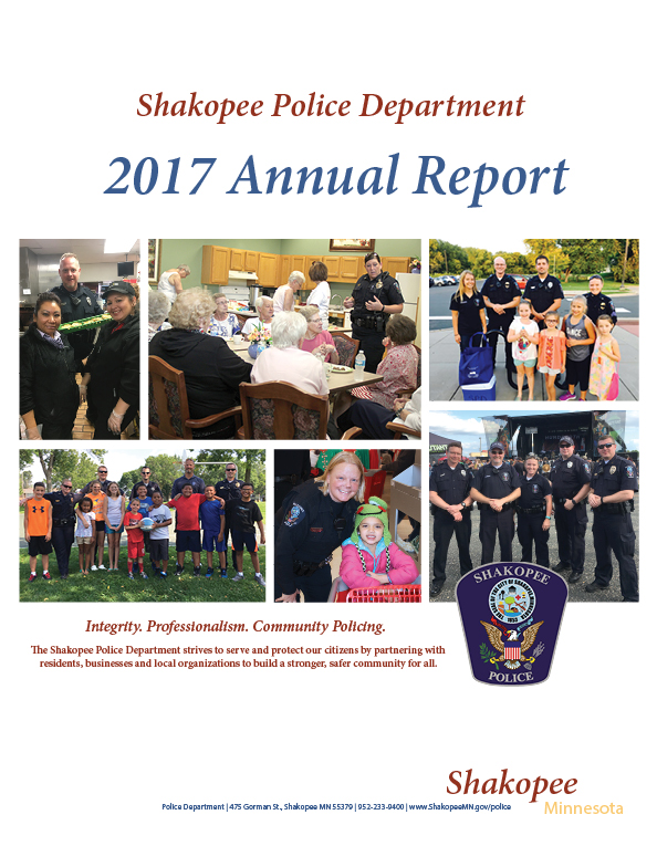 Police Department Annual Report 2017 Cover