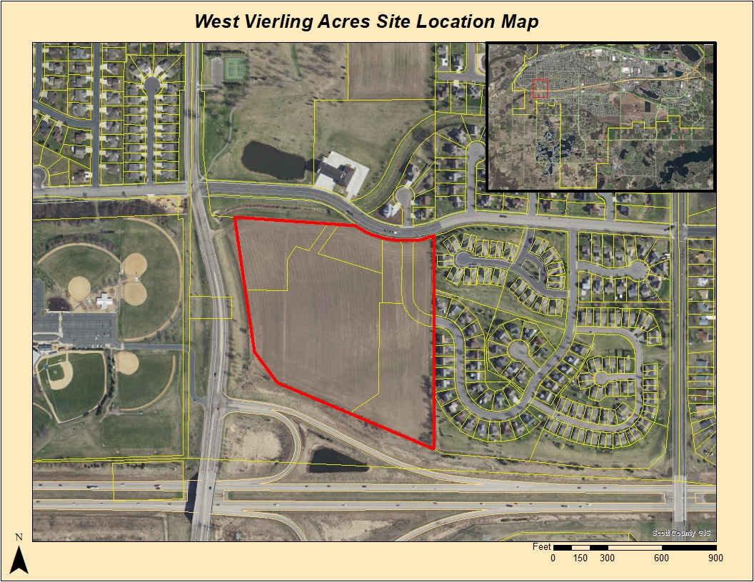 West Vierling Acres Site Location Map