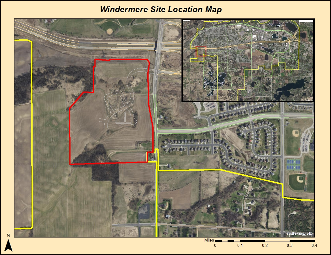 Windermere site location map