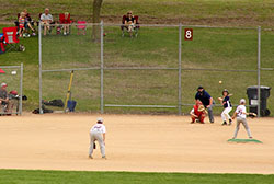 Baseball game at Tahpah Park ballfield