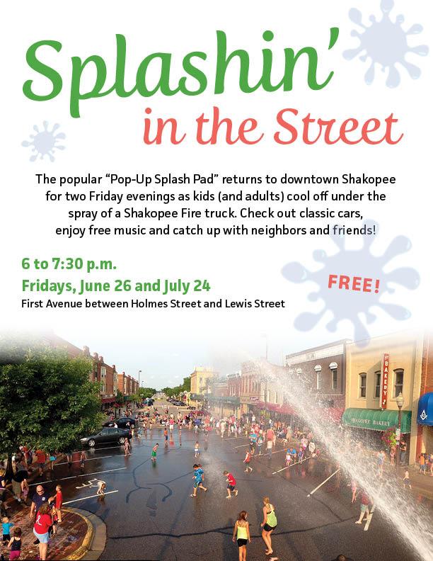 Pop-Up Splash Pad in Downtown Shakopee | Calendar | City of