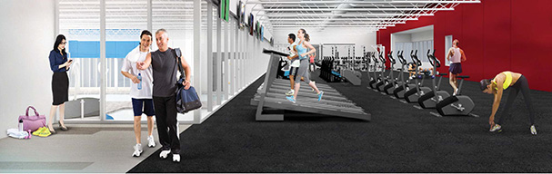 Inside Fitness Center