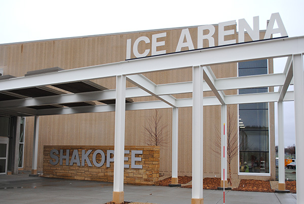 Signage outside the Ice Arena