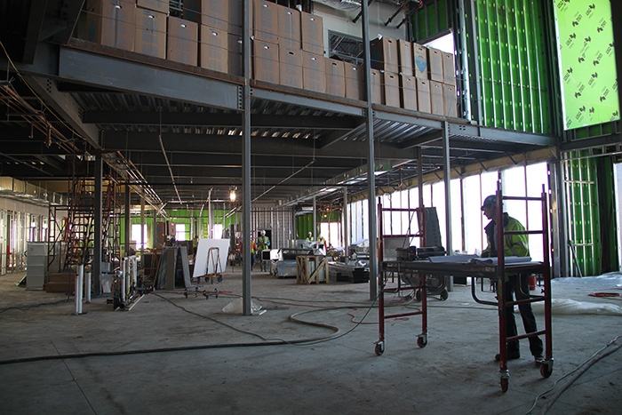 Construction inside building