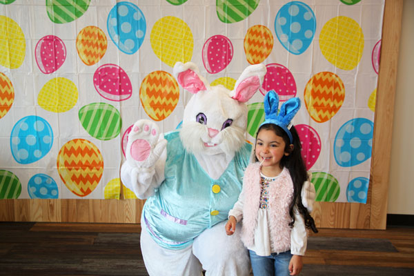 Girl with Easter bunny
