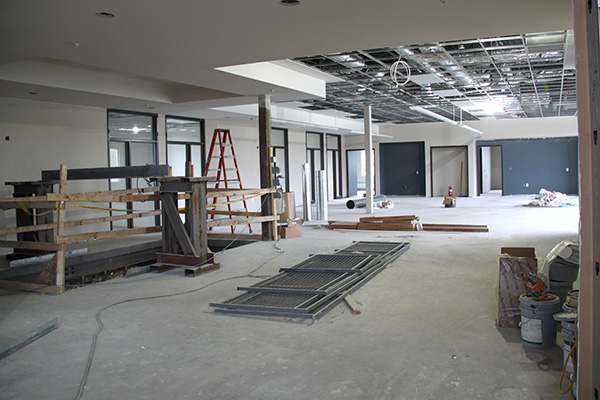 Office area under construction