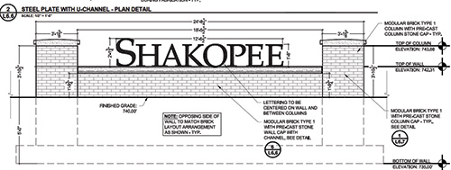 Shakopee Monument Sign Blueprints
