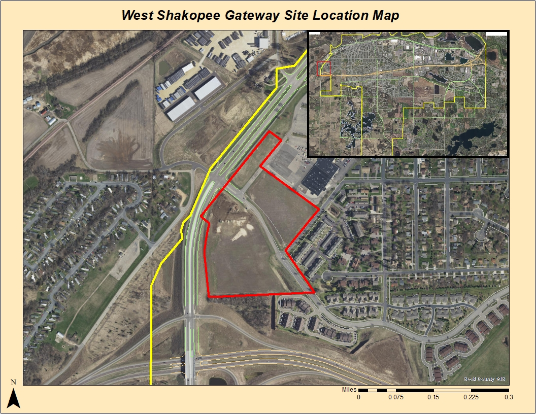 west shakopee gateway site location map