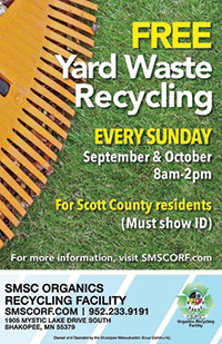Yard Waste Recycling Poster Fall 2018