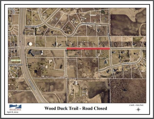Wood Duck Trail closure map