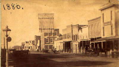 Downtown Shakopee in 1880