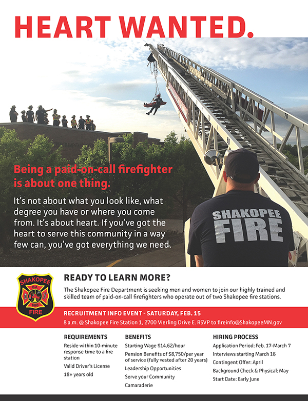 Poster with firefighter and ladder