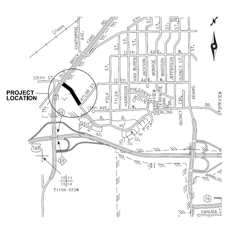 Vierling Drive Project Map